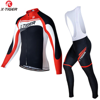 X-TIGER Pro Winter Thermal Fleece Cycling Jersey Set MTB Bicycle Cycling Clothes Wear Keep Warm Bike Cycling Clothing Suit