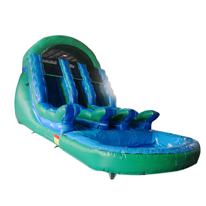Durable Inflatable 3 Lane Slide Inflatable Water Slide With Pool For Sale