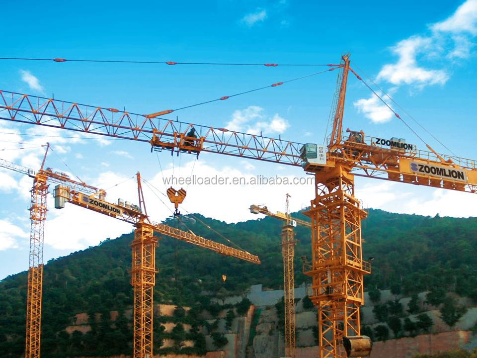 Zoomlion TC5610A-6 6 Ton Electric Tower Crane 56 Meter