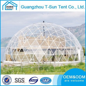 Customized Size High Quality Luxury Transparent Geodesic Planetarium Dome Tent For Party