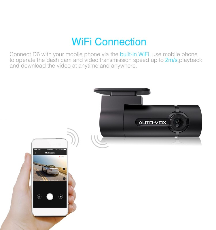 99.5% qualified rate wide angle 1080P WiFi blackbox