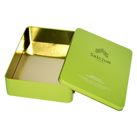 Tinplate manufacturers custom high quality square box style metal tin