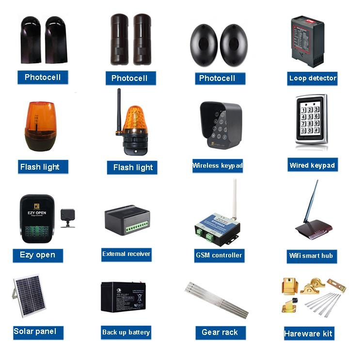 Residentiële gear systeem elektrische schuifpoort opener/schuifdeur motor