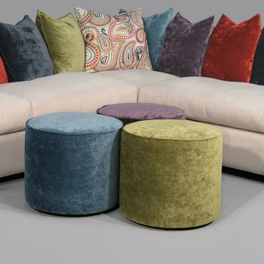 Fairmont Designs Rainbow Round Occasional Ottoman