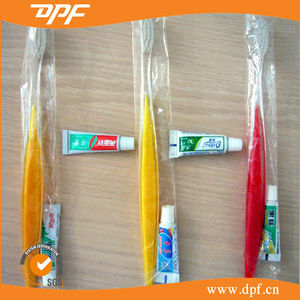 Hotel or travel use toothbrush dental kit