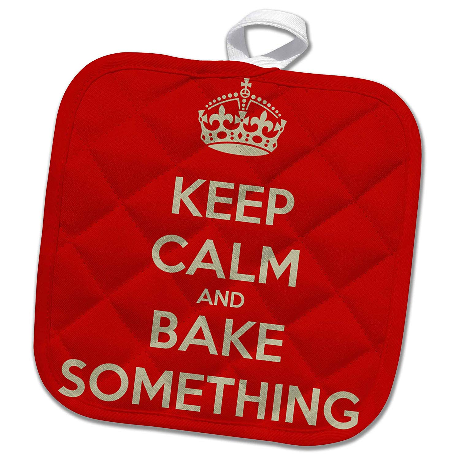 a3765fb67 3dRose EvaDane - Funny Quotes - Keep calm and bake something - 8x8  Potholder (phl_159621_1