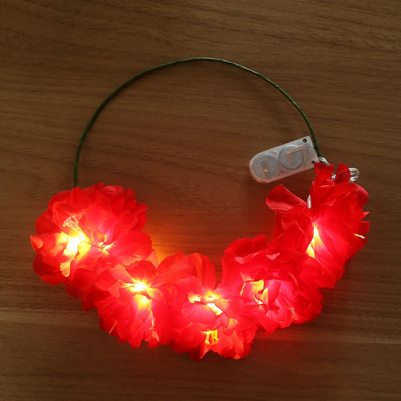 Rich Red Light Up Halo-Stirnband mit noch LED-Beleuchtung