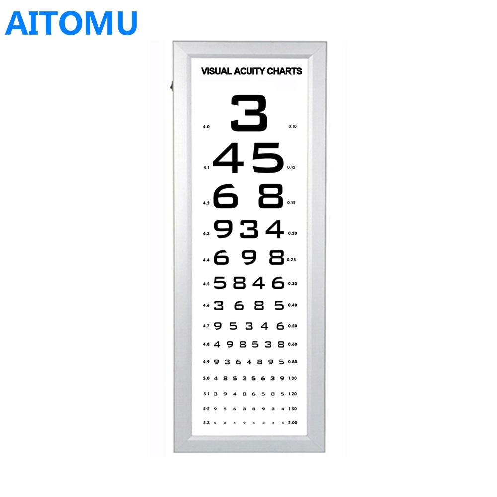 Led Eye Vision Snellen Chart Light Box Panel Buy Vision Chart Box