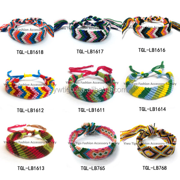 Whole Hand Woven French String Friendship Bracelets