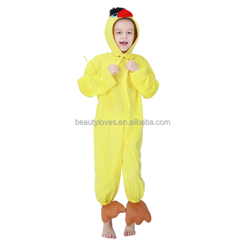 New fashion hot selling kids halloween yellow duck costume for promotion soft mascot halloween costume