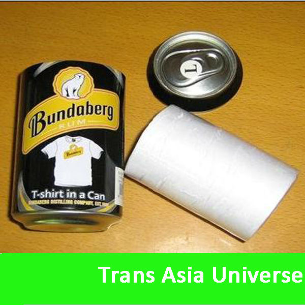 2014 Cheap compressed tshirts in cans