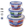 3pcs airtight food grade plastic container with lid