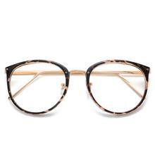 UVLAIK, оптические очки, оправа для женщин, близорукость, круглые, большие очки, оправа, трендовые металлические очки, прозрачные линзы, женские...(Китай)