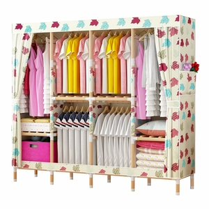 Colorful hot design cheap folding cloth assemble style foldable plastic wardrobe design for women