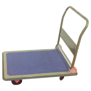 Folding flatbed hand trolley cart for transport in sizes