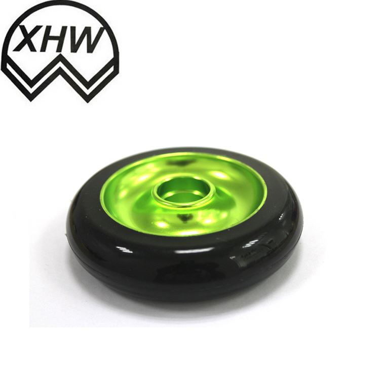 JY-504|Shenzhen 5 inch inflatable stem caster wheel|Industrial activity caster wheel|Rubber wheel