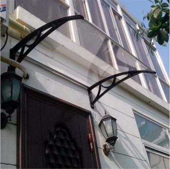 Diy Door Canopy 80x120 Polycarbonate Door Awning With Plastic