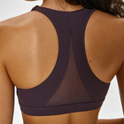 Wholesale custom private label women sexy mesh sports yoga bra with removable pads
