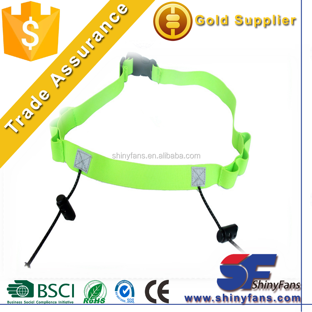 Wholesale Hot-selling Reflective Elastic Triathlon Marathon Running Race Number Belt With 6 Gel Holders