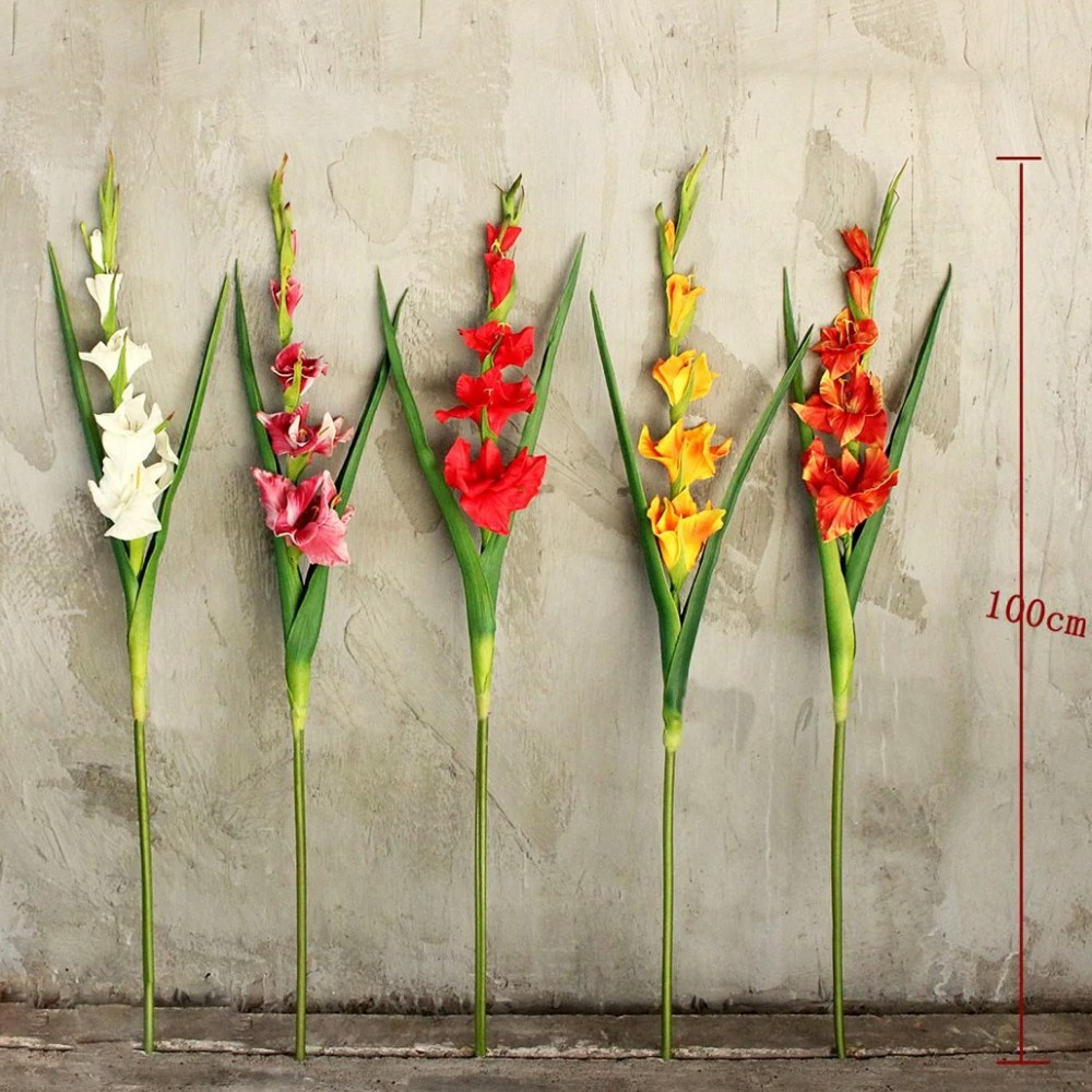 Pu artificial yellow gladiolus flowers fake gladiolus flowers with fob ningbo port mightylinksfo