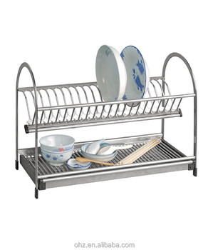 Household Storage Stainless Steel Kitchen Drying Dish Rack