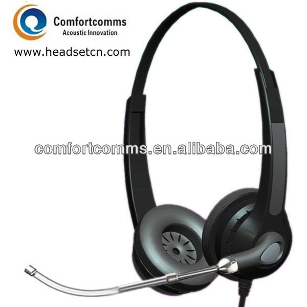 Flexible noise cancelling voice tube call center headset with wired microphone HSM-902T