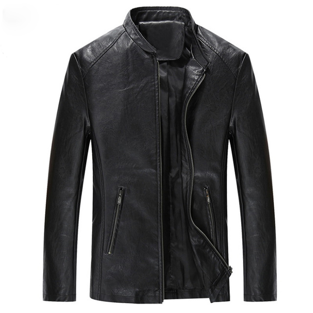 Brand Fashion Men Quality Leather Jackets Size M-4XL Soft PU Leather Man Cool Motorcycle Jacket Coats