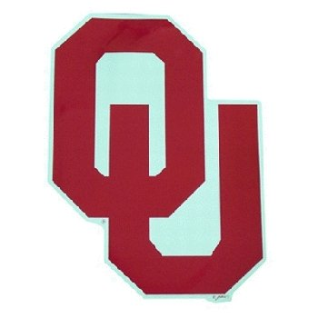 "NCAA Oklahoma Sooners Car Magnet ""OU"" (Large, 2 Pack)"