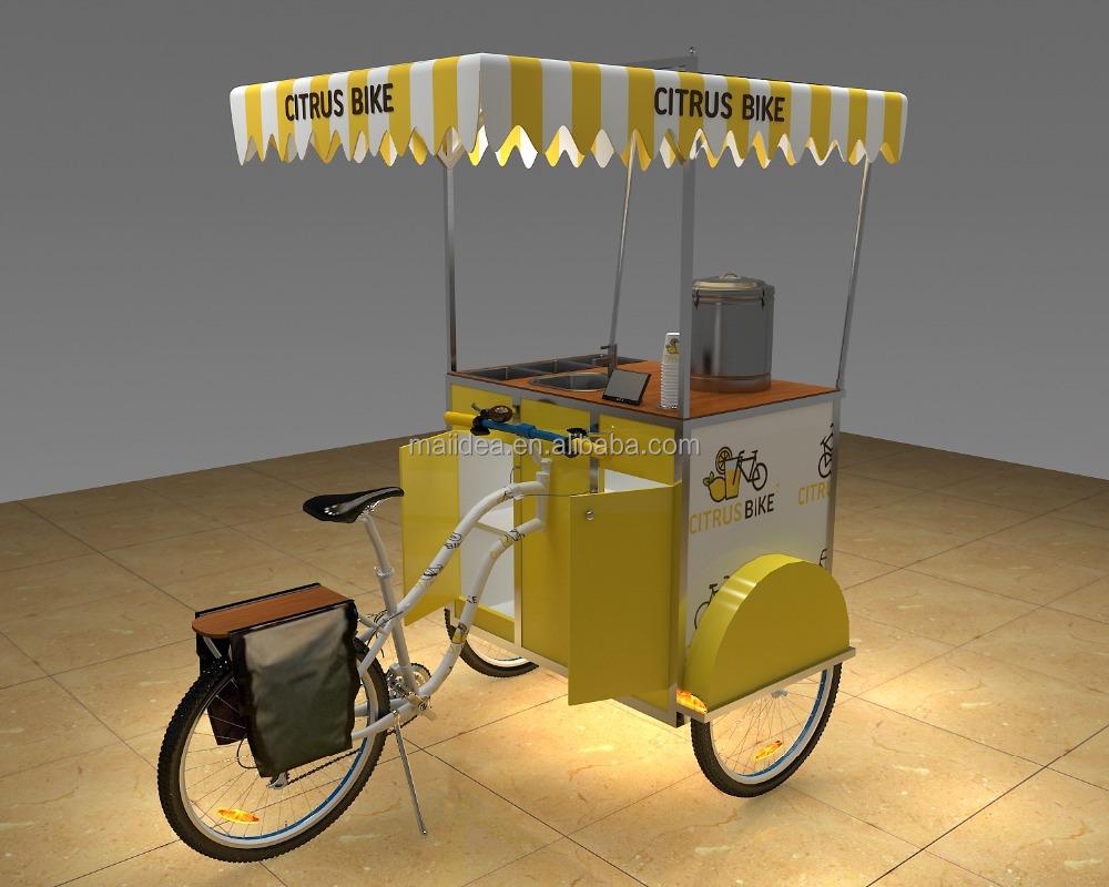 best selling biking food cart stainless juice cart with wheel coffee bicycle buy bike food. Black Bedroom Furniture Sets. Home Design Ideas