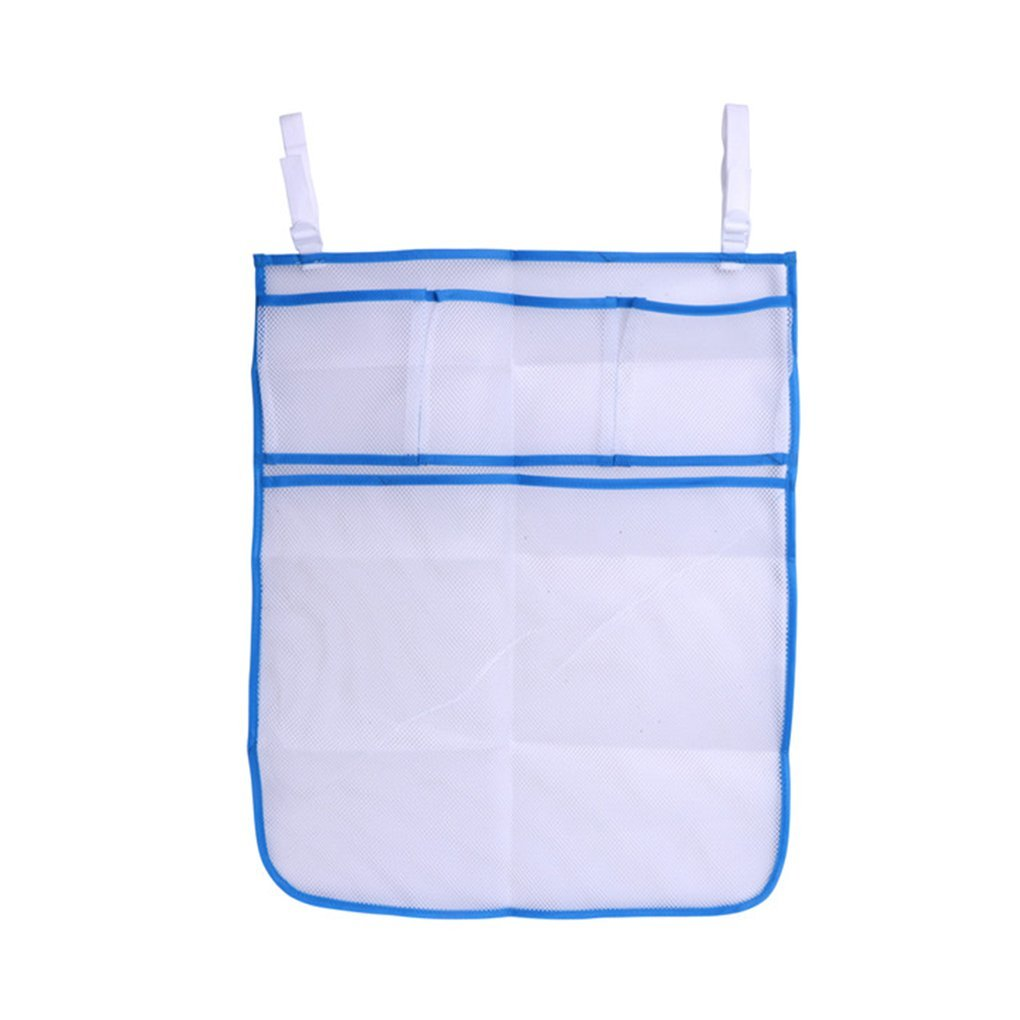 Chilie Baby Crib Mesh Bag Newborn Bedside Pouch Bumper Infant Diaper Organizer Pouch Toddler Clothes Container