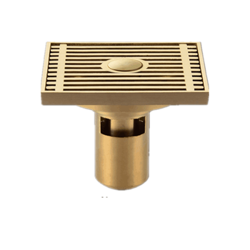 Bathroom Accessories Luxury gold brass floor drain