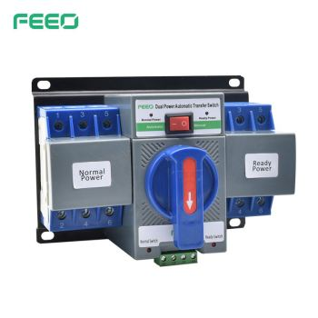 CE 2P 3P 4P Electric AC 220V Single Phase Equipment 63A Dual Power Automatic Transfer Switch For Generator