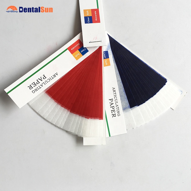 Dental Articolazione Carta con Thin Red & Blu Sottile