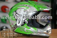 Green Motocross helmet