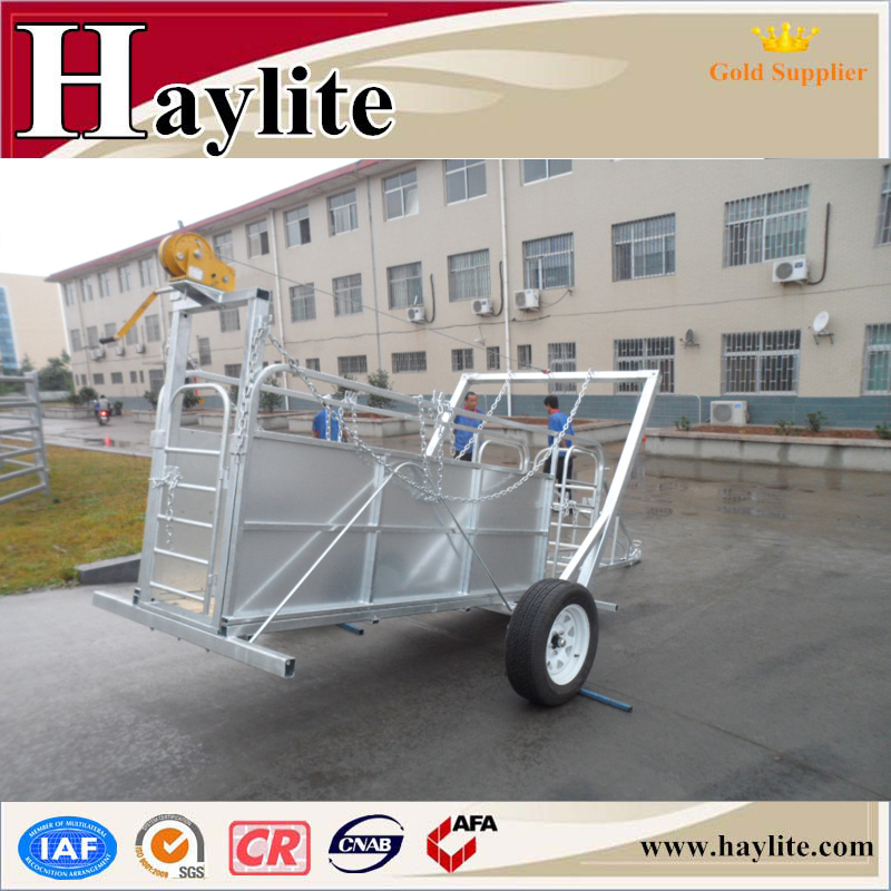 Galvanized sheep yard system trailer
