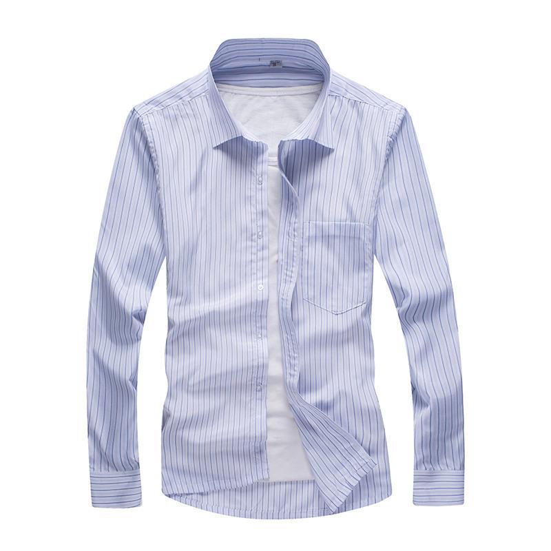 Get Quotations · 2015 Autumn New Style Mens Shirt Long Sleeve Dress Shirts  Slim Fit Social Striped Shirt Men 80e3ab1cc7ea