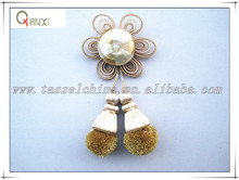 Decorative curtain rosette clips, pom pom tassels trimmings wholesale