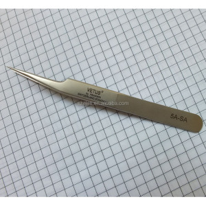 5A-SA Stainless Steel Private Label Wholesale Eyelash Extension Tweezer