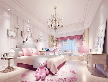 Professional Interior Rendering Design Of Classic Adorable Pink Princess  Girl\'s Bedroom Bf12-03314f - Buy Bedroom Design Interior,3d Rendering ...