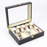 High Quality Customized Gift Luxury 10 grid Wooden Display Packaging Watch Box