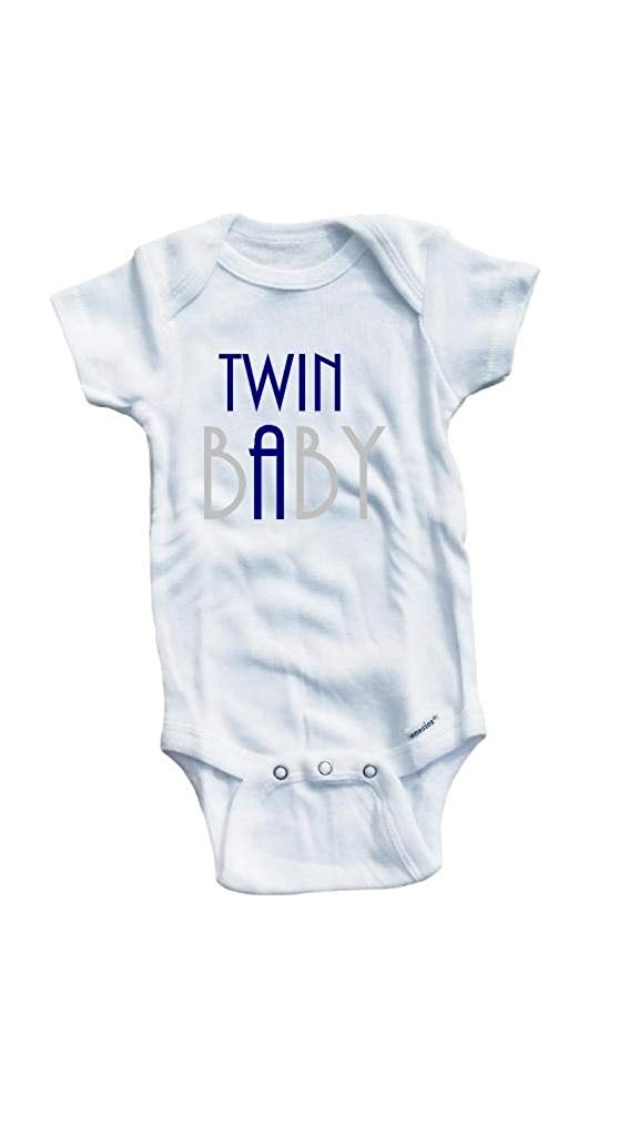 Baby Tee Time Baby Boys' #2 Twin Baby A B Set One piece
