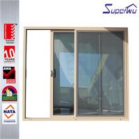 Unique design aluminum sliding door with glass panel with American standard