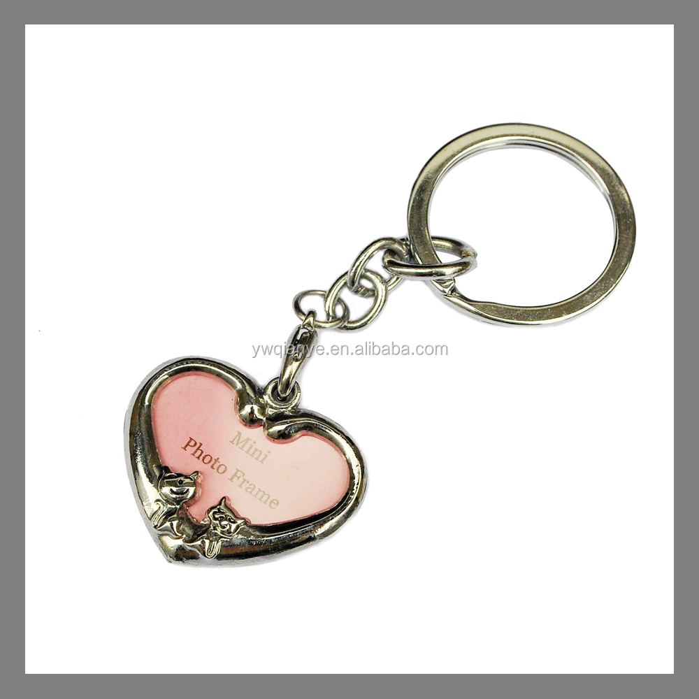 Asia China Factory Wholesale heart Zinc alloy Enamel metal photo frame charm jewelry