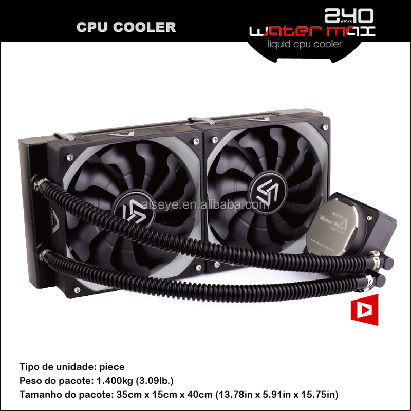 Alseye AA0205 manufacture liquid cooler cpu 120mm oil cooler MAX240 computer water cooling for Intel & AMD