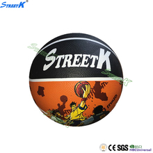STREETK Hot sale factory manufacturer rubber basketball promotional inflatable basketball ball