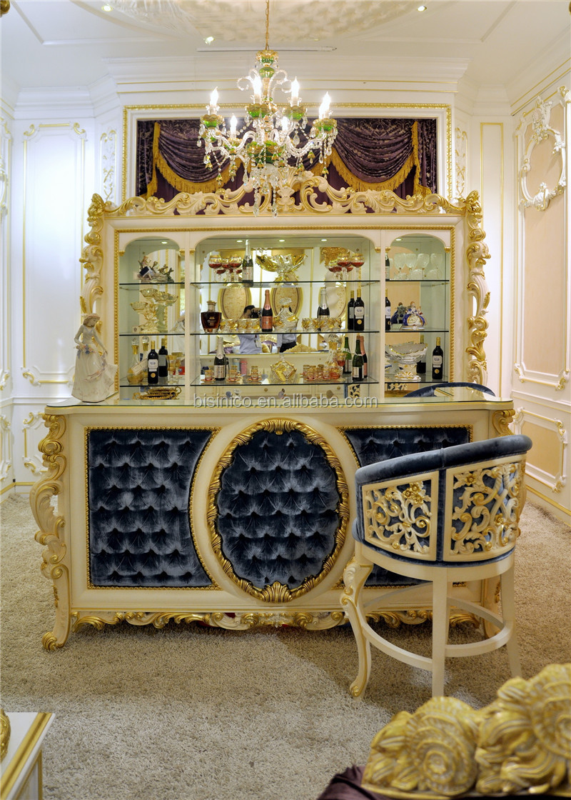 Noble French Style Hand Painted Bar Set Latest Upholstery
