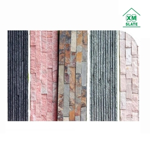 High quality Chinese cultured wall slate colorful cultured stone ledgestone stacked stone tiles