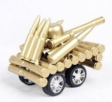 T067 Handmade Copper Office Decoration High Quality Metal Cannon Model With Bullet