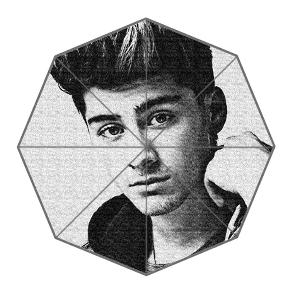 Snowy custom zayn malik foldable umbrella rain umbrella wind resistant travel umbrella