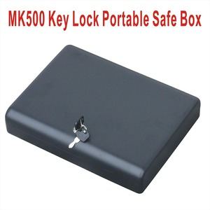 Whosale--MK500 Micro safe car gun pistol portable metal small key lock box